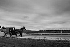 Um relance do estilo de vida tradicional na vila de Amish, Pensilvânia imagem de stock
