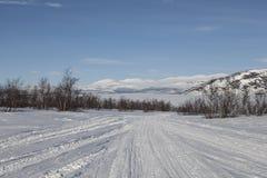 Um relance em Tornetrask Foto de Stock
