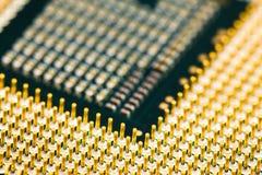 Um relance próximo do processador central Imagem de Stock