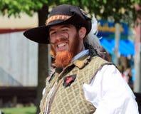 Um renascimento Faire de Capitan Bristol Fotografia de Stock