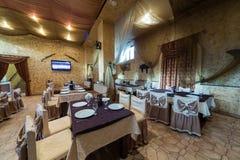 Um restaurante acolhedor Pomestie Foto de Stock Royalty Free