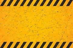 Um retângulo listrado preto gasto Sinal de aviso vazio riscado Ilustração do vetor ilustração do vetor