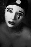 Um retrato com máscara do pierrô Fotografia de Stock