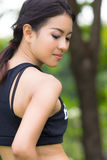 Um retrato da mulher asiática atrativa foto de stock royalty free