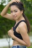 Um retrato da mulher asiática atrativa fotos de stock royalty free