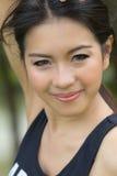 Um retrato da mulher asiática atrativa imagem de stock royalty free