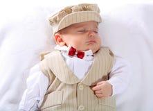 Um retrato de um bebé recém-nascido Fotos de Stock Royalty Free