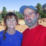 Um retrato de um casal em Sedona Foto de Stock Royalty Free