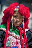 Um retrato de um executor na parada do primeiro de maio em Cusco, Peru Foto de Stock Royalty Free