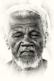Um retrato de um homem idoso de Ghana Fotos de Stock Royalty Free
