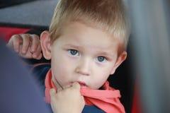 Um retrato de um menino Imagens de Stock