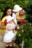 Um retrato de uma família feliz fotografia de stock royalty free