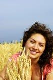 Um retrato de uma mulher bonita Imagem de Stock