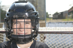 Um retrato do jogador da bola do hóquei com vara de hóquei Imagens de Stock Royalty Free