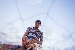 Um retrato do pescador forte Fotos de Stock Royalty Free