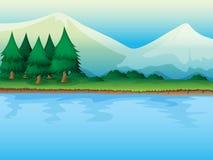 Um rio Fotografia de Stock