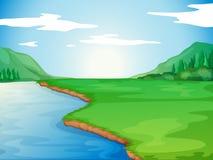 Um rio ilustração do vetor