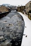Um Rio Aire congelado, Skipton Imagens de Stock Royalty Free