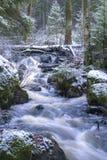 Um rio da branco-água em Finlandia fotografia de stock royalty free