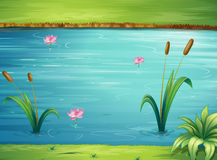 Um rio e uma paisagem bonita Fotos de Stock Royalty Free