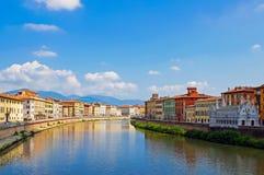 Um rio em Pisa Imagem de Stock