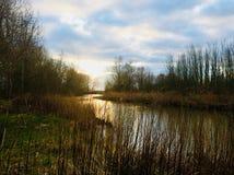 Um rio em Sommelsdijk foto de stock royalty free