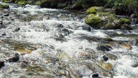 Um rio flui sobre rochas filme