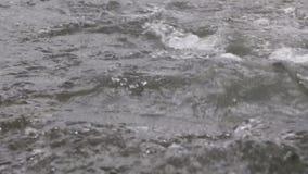 Um rio flui sobre rochas nesta cena bonita nas montanhas de Tennessee no outono filme
