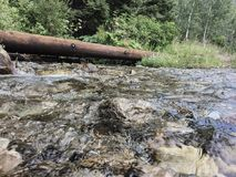 Um rio nas montanhas Imagens de Stock