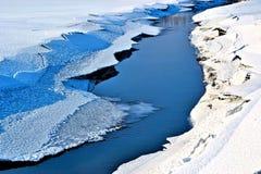 Um rio pequeno Fotografia de Stock Royalty Free