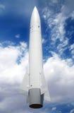 Um Rocket branco Fotos de Stock Royalty Free