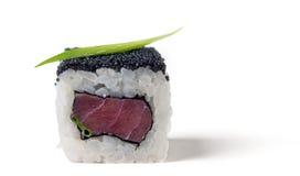 Um rolo com um atum Foto de Stock
