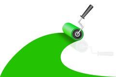 Um rolo tinge uma cor verde Imagens de Stock Royalty Free