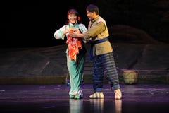 Um símbolo da ópera de Jiangxi do amor uma balança romana Fotografia de Stock