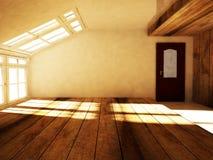 Um sótão vazio com a janela ilustração do vetor
