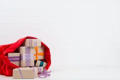 Um saco com presentes Imagem de Stock Royalty Free