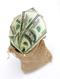 Um saco completamente de dinheiro Imagens de Stock Royalty Free