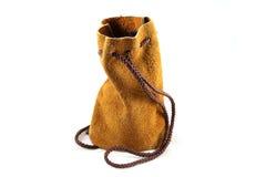Um saco de couro Fotografia de Stock