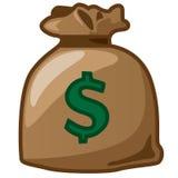 Um saco de dólar Fotografia de Stock