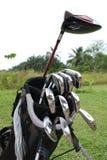 Um saco do equipamento de golfe 3 Fotos de Stock Royalty Free