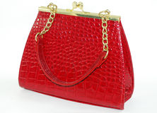 Um saco vermelho imagem de stock royalty free