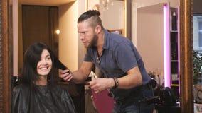 Um salão de cabeleireiro video estoque