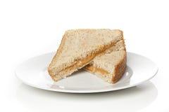 Um sanduíche da manteiga de amendoim Foto de Stock Royalty Free