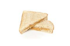 Um sanduíche da manteiga de amendoim Fotografia de Stock