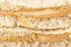 Um sanduíche da manteiga de amendoim Fotos de Stock