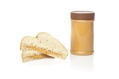 Um sanduíche da manteiga de amendoim Imagem de Stock