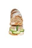 Um sanduíche da mordida imagens de stock
