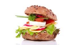Um sanduíche marrom saudável rico Imagem de Stock