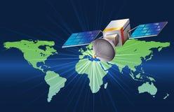 Um satélite Fotos de Stock