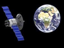 Um satélite artificial Imagem de Stock